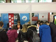 The fair's visitors met representatives of the University of Ljubljana and gathered all the first-hand information about studying in Ljubljana, extracurricular activities and other services that the University offers its students.