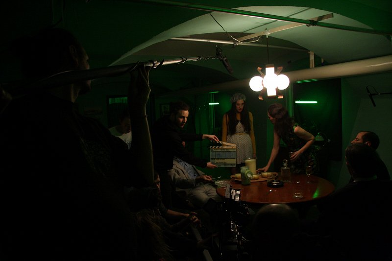 "Filming of the student short film ""Slastni gnus"" (Delicious disgust) Photo: Klemen Kraševec"
