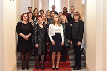 The 2018 recipients of recognitions for professional staff of the University of Ljubljana  Photo by: Foto studio NORA d.o.o.