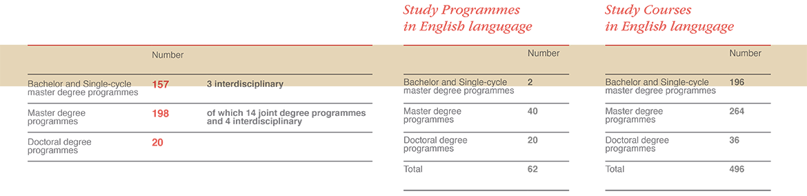 Study Programmes in 2017