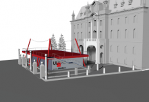 The design concept for the Knowledge Market Pavilion, as a manifestation of the Space of Knowledge on the centenary of the University of Ljubljana.   Faculty of Architecture, University of Ljubljana